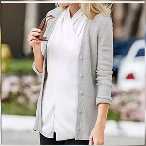 CAbi Shirttail cardigan gray (size medium)